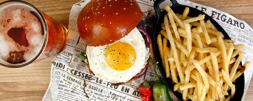 מסעדת הפסאז׳ בשדרות המבורגר ציפס בירה